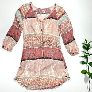 O'NEILL Miki Printed Boho Dress in Coral, Size XS